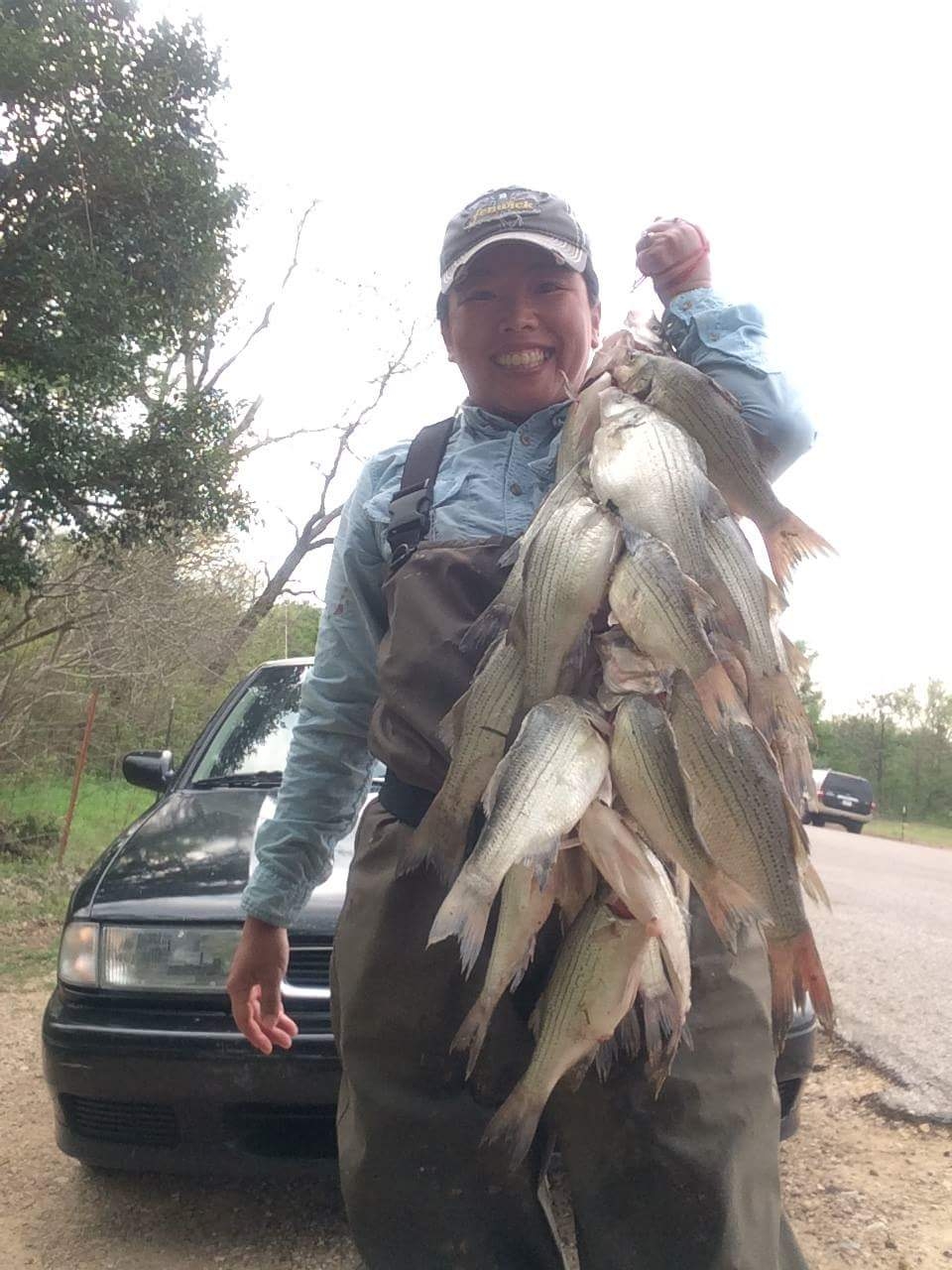 Bank Fishing for White Bass